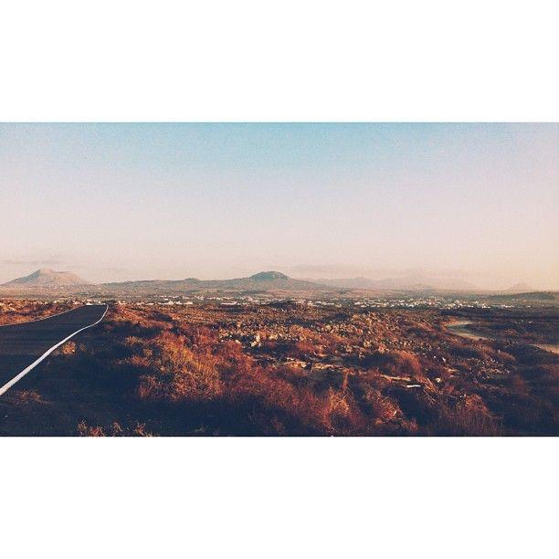 .@Tjasa | Road to Lajares #fuerteventura