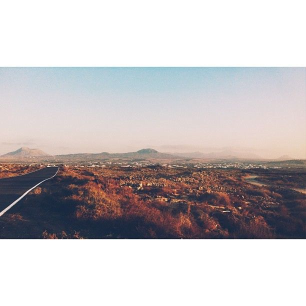 .@Tjasa   Road to Lajares #fuerteventura