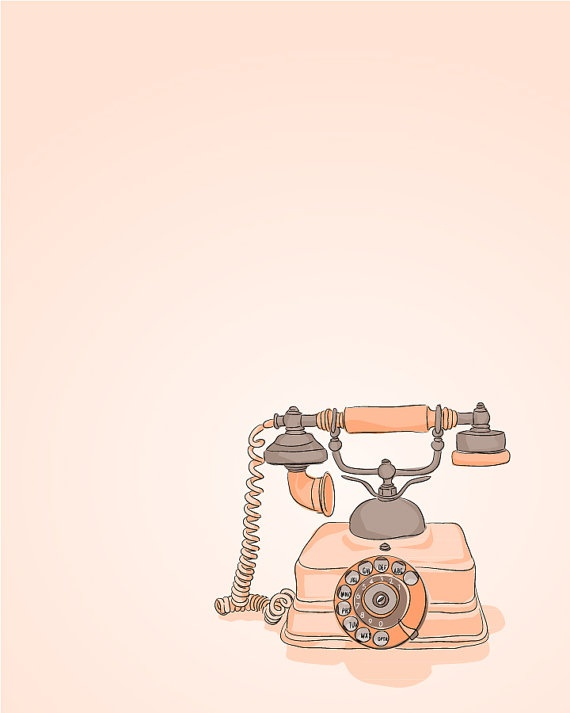 234 best images about Telephones illustrations on ...