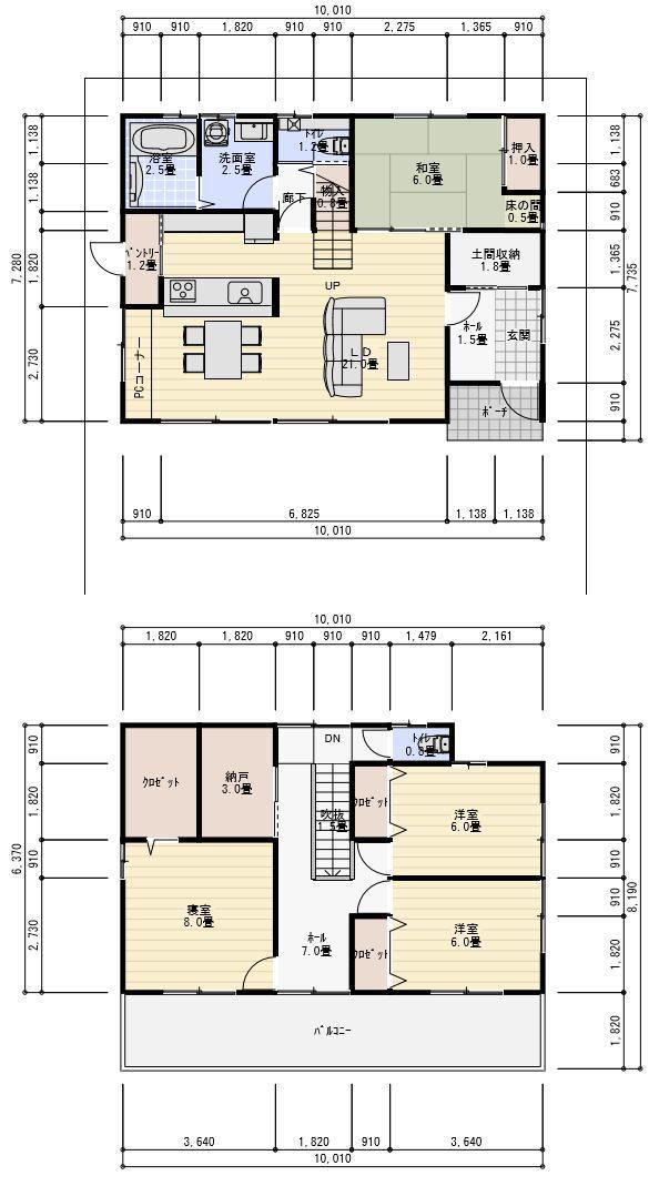 40坪収納の多い間取り、パントリー土間収納、納戸