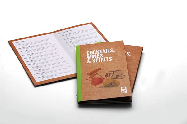 Recipe Bar menu catalogues on Behance