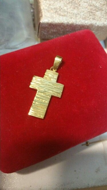 Handmade gold 14K (585)K cross .Ask me more on my Facebook account Despina Kornelaki