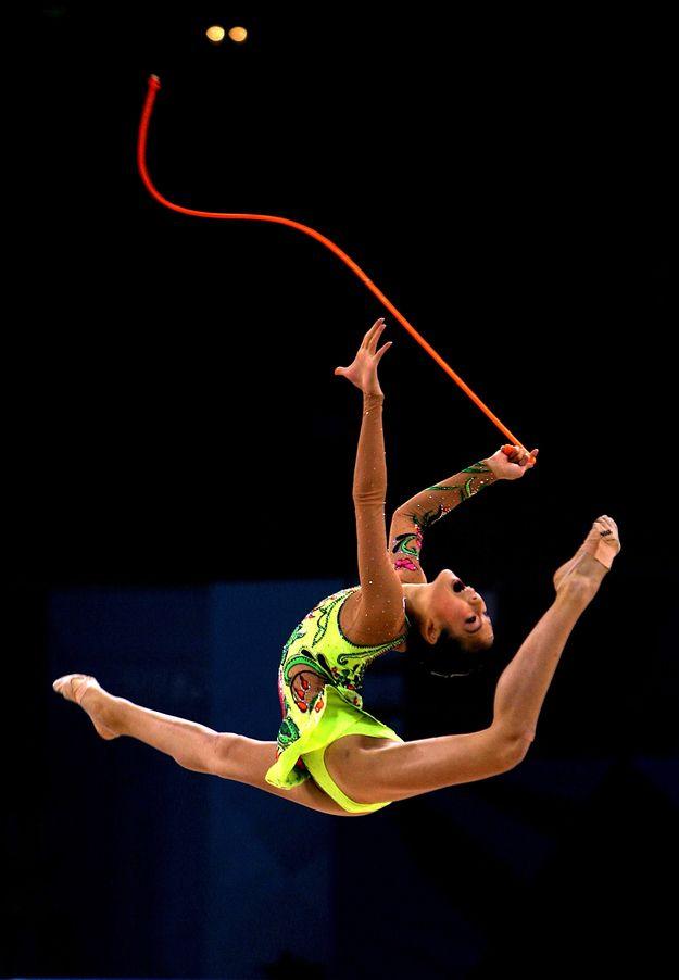 Rhythmic gymnastics is, as all Olympics enthusiasts are aware, actually incredibly beautiful and impressive. | Rhythmic Gymnast Shin Soo-Ji Has The Coolest Windup InBaseball