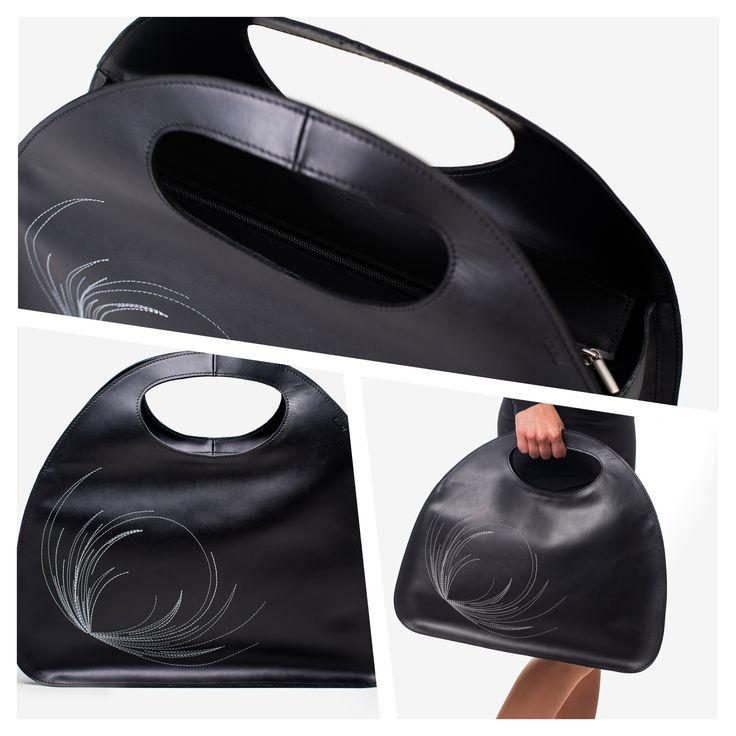 """Lisbon"" leather laptop bag"