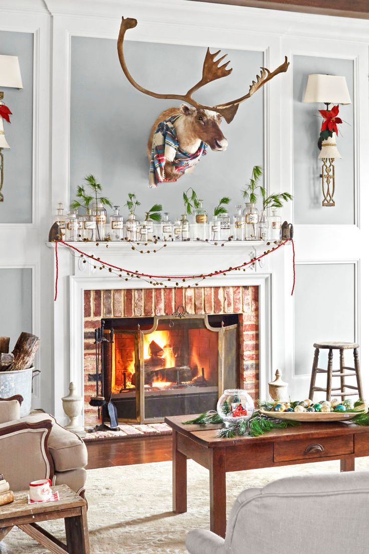 30 best Beautiful Christmas Mantel Decorating Ideas images on ...