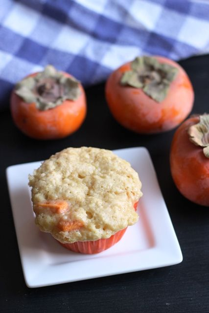 Persimmon Muffins with Lemon and Cardamom - I never knew that persimmons were actually good. They seem too weird. But, these muffins are great!