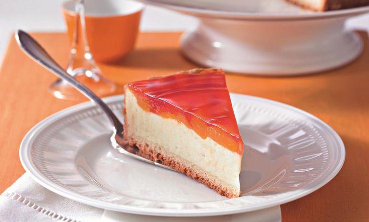 Mandarinen-Käsekuchen mit Pudding Rezept | Dr. Oetker