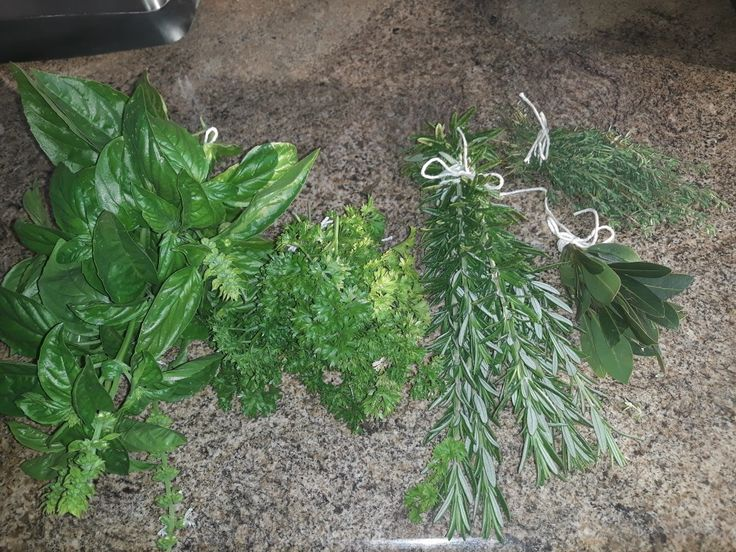Fresh herbs to share with friends