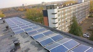 300 zonnepanelen op drie flats van woningcoöperatie Thuisvester, door Pebble Green Systems