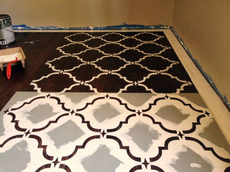 140 best diy floors images on pinterest home ideas floors and brand new we diy stenciled floor use a stencil and paint to give solutioingenieria Choice Image