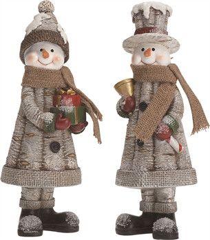 Snowman Woodland Figurines