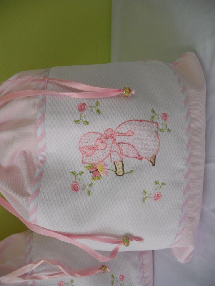Bolsa para la ropa infantil realizada en piqu de algod n - Bolsas para ropa ...
