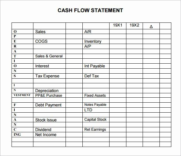Simple Cash Flow Statement Template Beautiful 13 Sample Cash Flow Statements Cash Flow Statement Statement Template Cash Flow