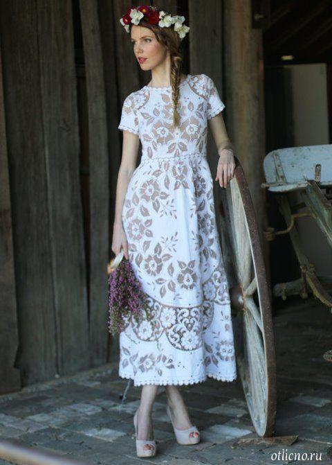 Красивые кружевные платья с крючком
