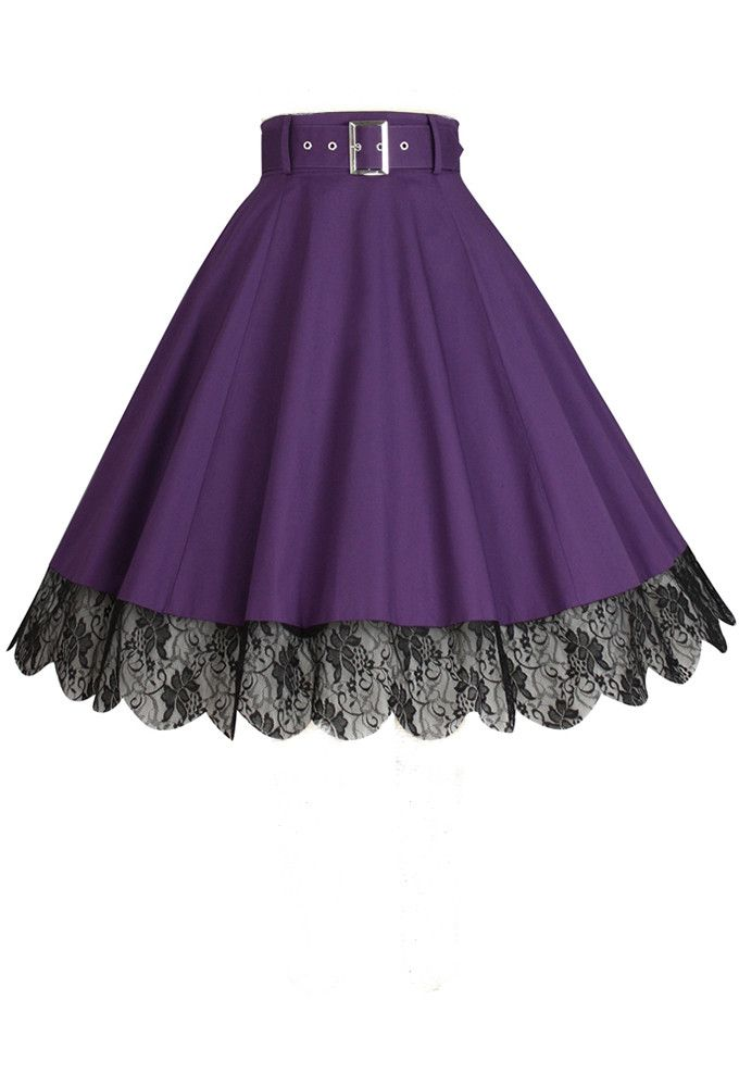 Chic Star - Purple Lace Skirt