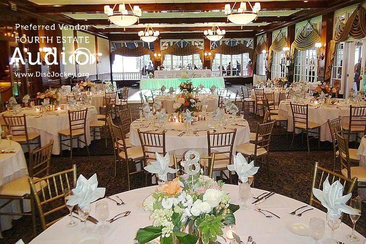 The elegant Three Oaks Room at the Drake Oak Brook. http://www.discjockey.org/real-chicago-wedding-august-20-2016/