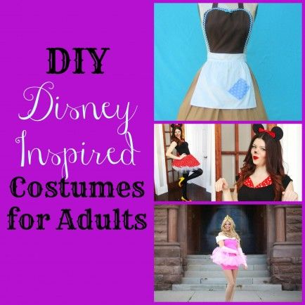 DIY Disney-Inspired Costumes for Halloween! Apron costumes would be super easy for a post-partum momma.
