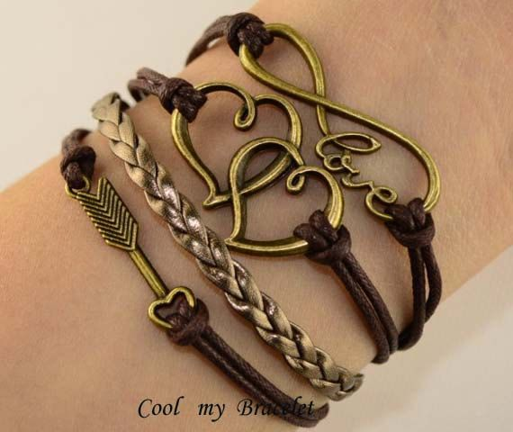 Love personality infinite love double heart by Coolmybracelet, $5.99
