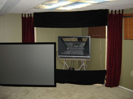 Home cinema rear projection