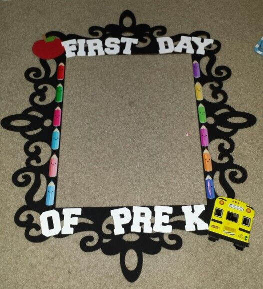 I made this for my daughter leilani's first day of pre k