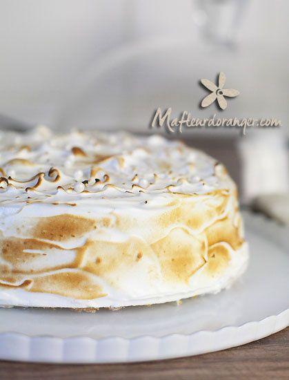 Gâteau au citron et vanille meringué