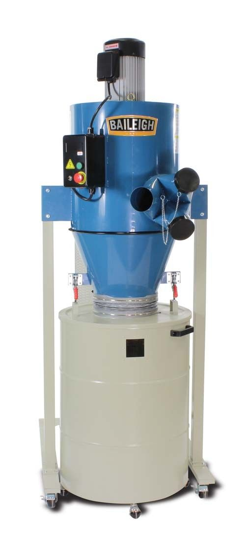 3HP Cyclone Dust Collector DC-2100C | Baileigh Industrial