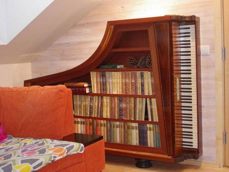 furniture made from old piano 3