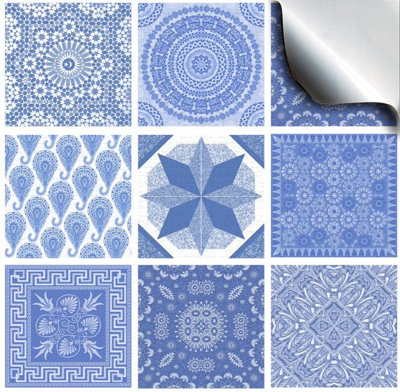 Pack of various traditional mosaic tile stickers NTp 07 par Eshot