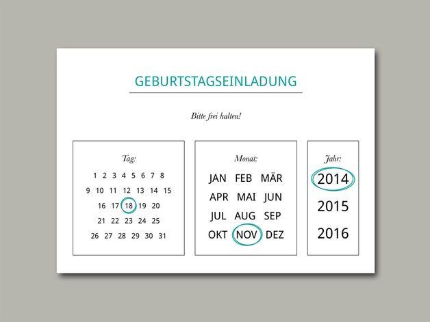 Einladungskarten - Geburtstagseinladung Geburtstagsfeier Postkarte A6 - ein Designerstück von inLiebe bei DaWanda