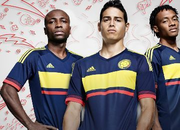 Colombia 2015 Copa America adidas Away Kit
