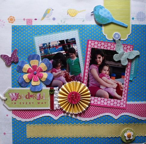 Wonderful page created with Little Yellow Bicycle, Hello Spring collection by Teena Hopkins for My Scrappin' Shop.