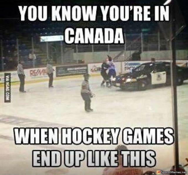 meme + hockey   SportsMemes.net > Hockey Memes > Hockey In Canada