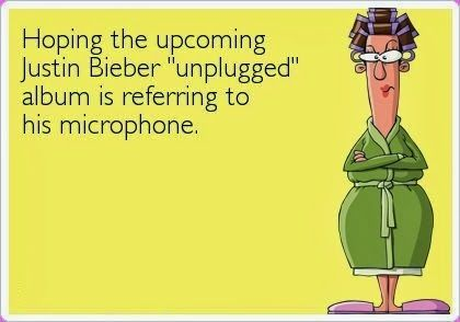 Funny Justin Bieber Unplugged Microphone Album Quote
