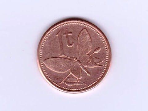 Монета 1 тойя Папуа Новая Гвинея 2004 год, с изображением бабочки