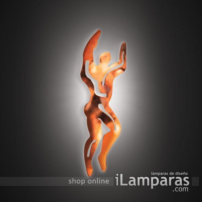 Illuminati aplique uomo man 1x6w 2700k (ILL14APPU001BR000) - Slamp / iLamparas.com