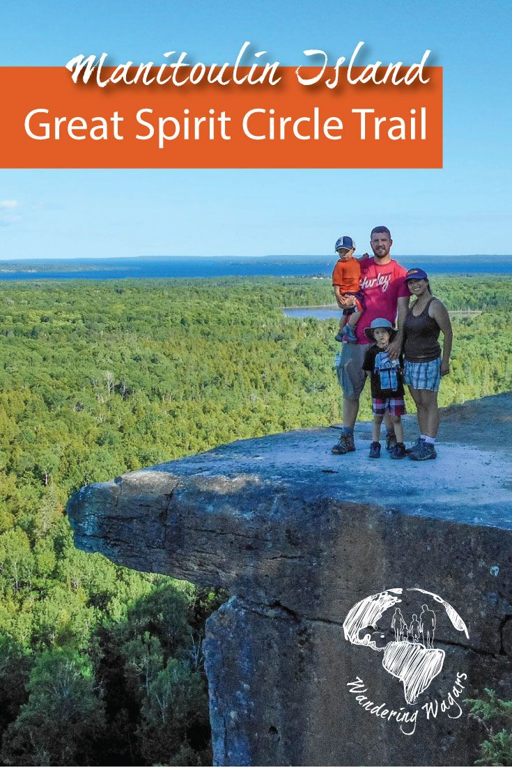 Hiking the Cup and Saucer in Manitoulin Island, Ontario, Canada is just one of the many experiences offered by the Great Spirit Circle Trail.