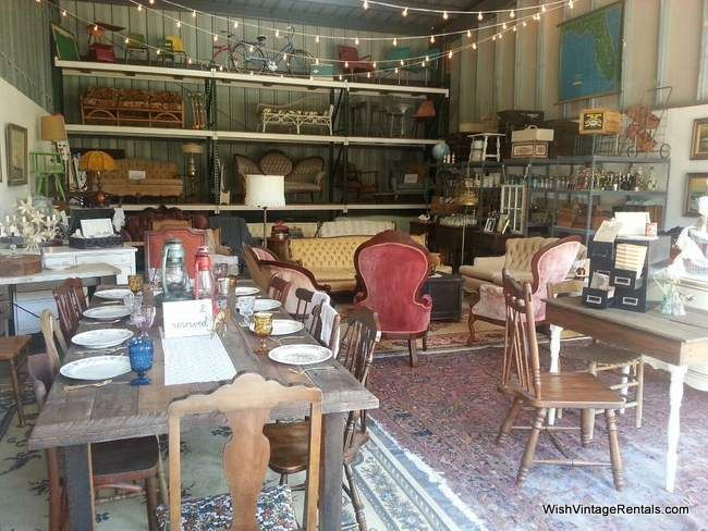 WISH Vintage Rentals warehouse