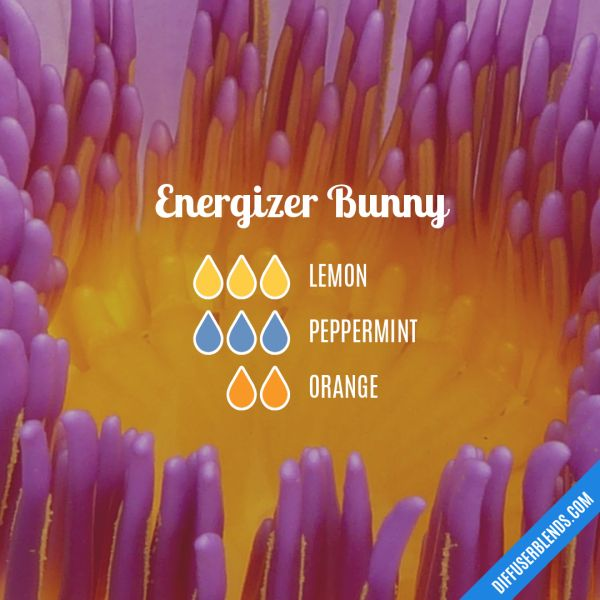 Energizer Bunny - Essential Oil Diffuser Blend #Essentialoildiffusers