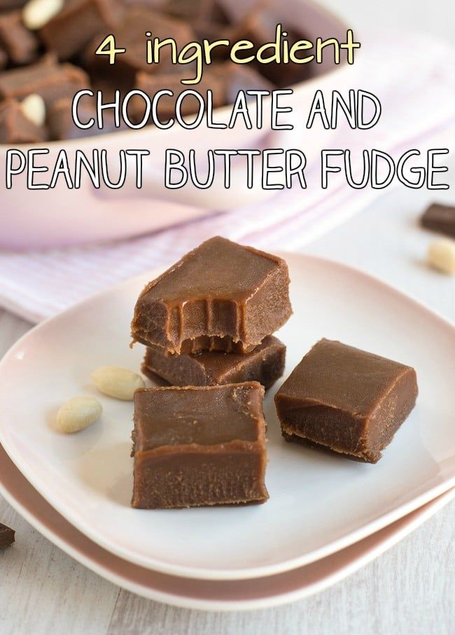 4 Ingredient Chocolate Peanut Butter Fudge This Is So Easy To Make And You Ll Never Guess What The 4 Fudge Recipes Peanut Butter Fudge Vegan Dessert Recipes