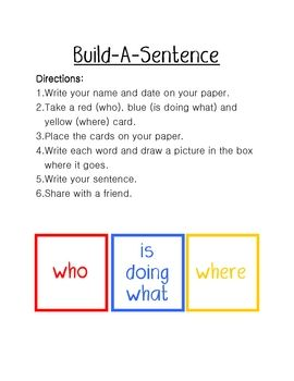 Your students can write silly sentences! This is a great tool for students who need extra help writing complete sentences.  Builds background knowl...