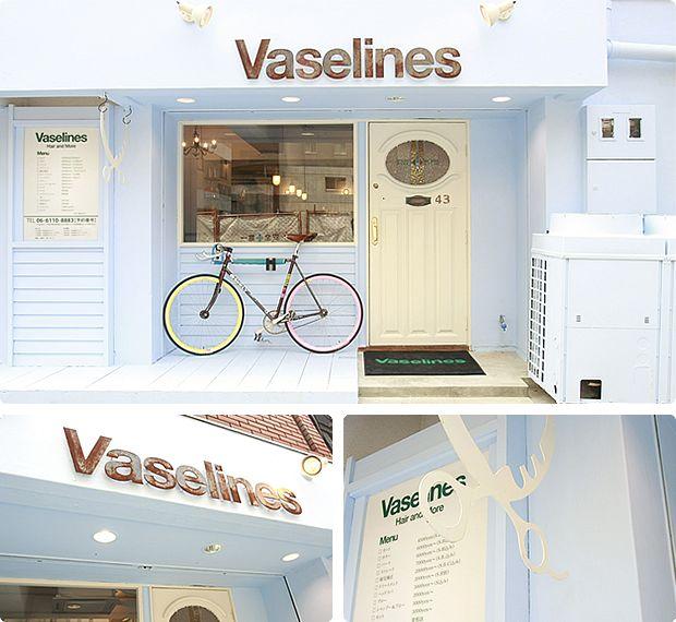 大阪・南堀江の美容院「Vaselines」の外観写真