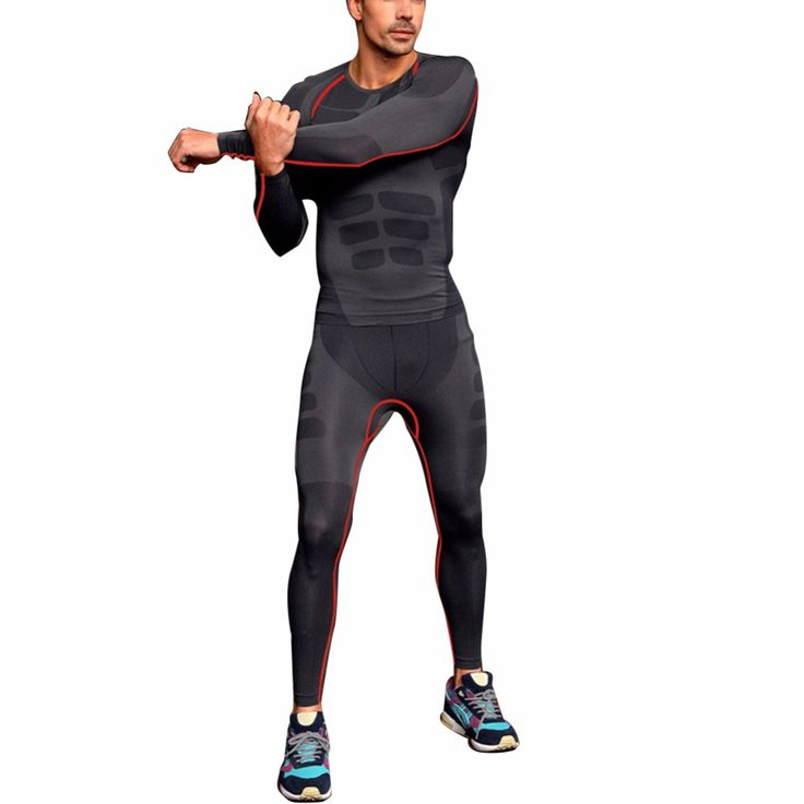 2016 Men Athletic Pants Compression Running Training Fitness Base Layers Skin Sports Tights