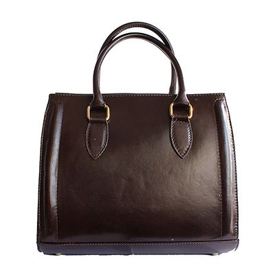 Vintage Gladstone Style Dark Brown Leather Handbag - Down to £49.99 from £99.99