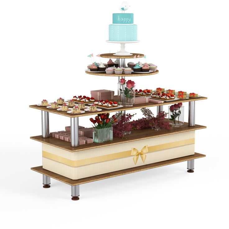Whether it be finger sandwiches, champagne or gourmet chocolate truffles, you can rely on this display unit to impress your customers with the ultimate presentation. It is also great for the display of wedding presents, wedding cakes, and if you already have our Large 6′ Classic Unit, you can order an individual set of tops and convert it with little effort.