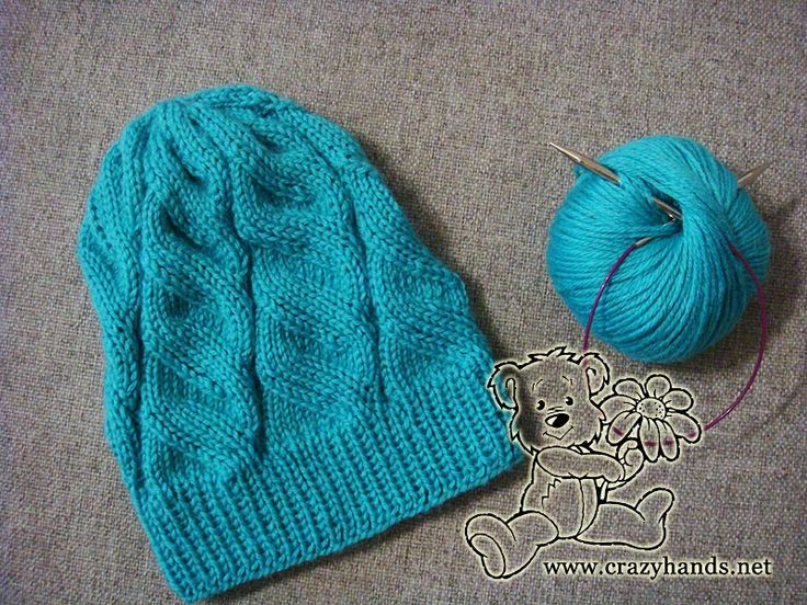 1 2 3 4 Knitting azure hat with circular needles A short knitting real life s...