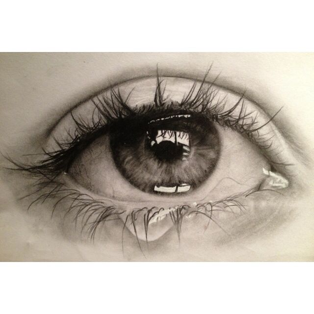 Pencil Drawing Of Crying Eye  in Sketching by Chloe Tao