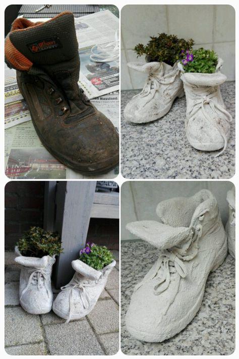 Cement Hand Planters Pour Cas