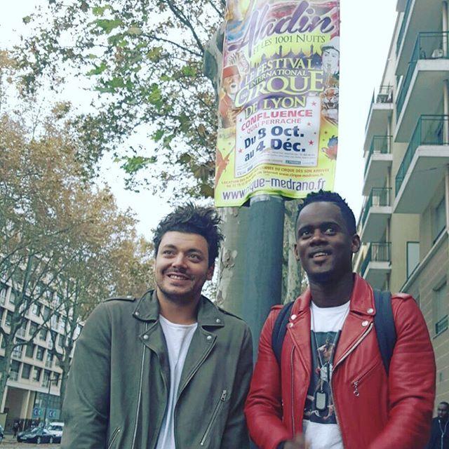 De retour dans les rues de Lyon avec @blackmesrimes , 1 an apres #AladinLeFilm #YallahYalah #TEPTour
