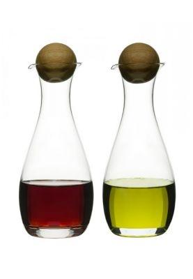 2 stylowe pojemniki na ocet lub oliwę