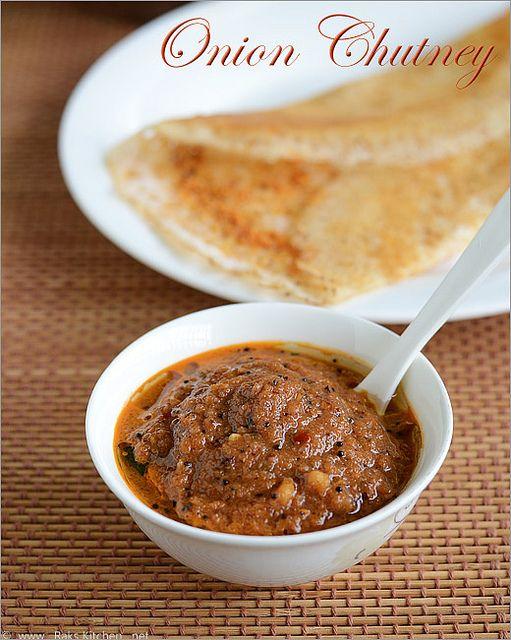 Onion chutney side-dish for Idli Dosa
